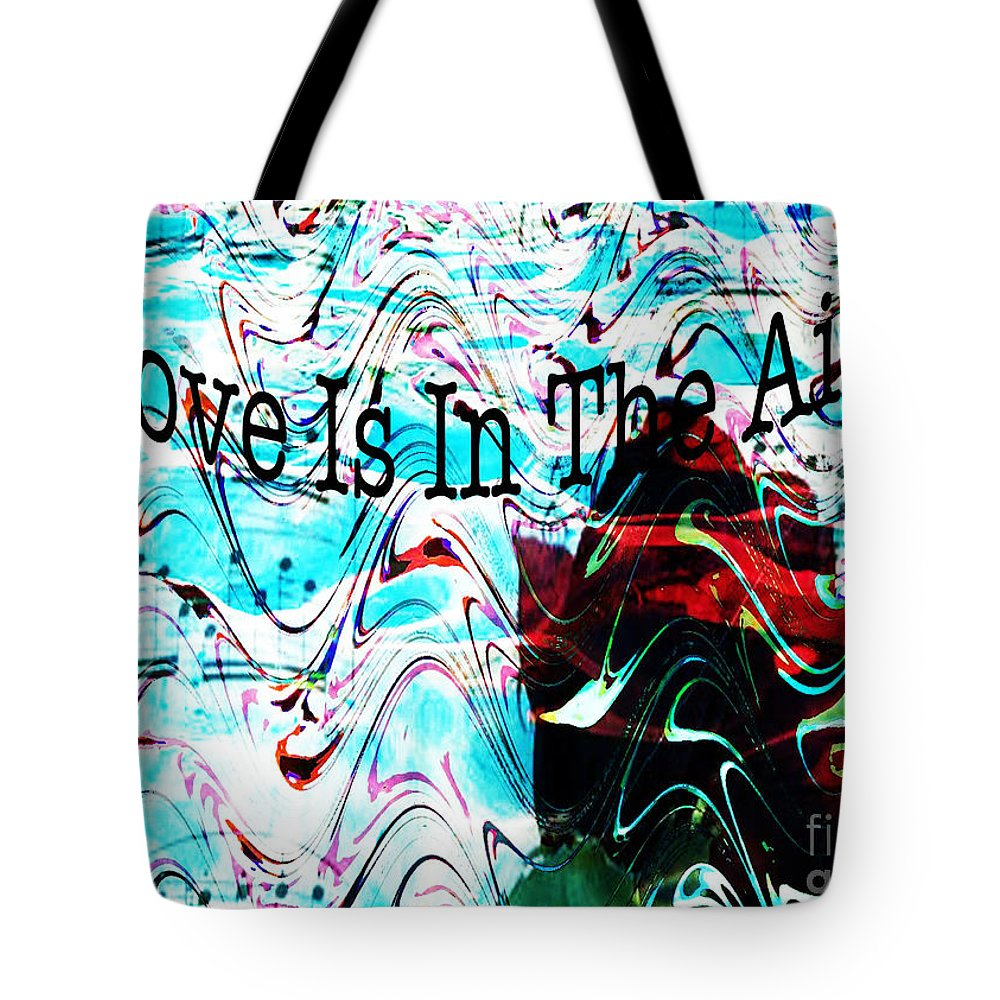 Digital Art Flower Tote Bag featuring the digital art Awareness II by Yael VanGruber