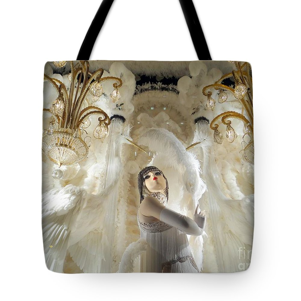 Mannequins Tote Bag featuring the photograph Awash In White by Ed Weidman