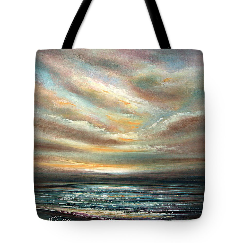 Sunset Tote Bag featuring the painting Away by Gina De Gorna