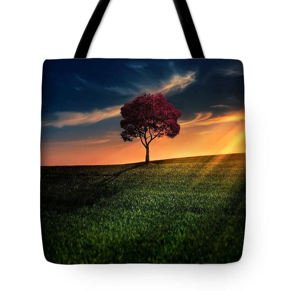 Agriculture Tote Bag featuring the photograph Awesome Solitude by Bess Hamiti