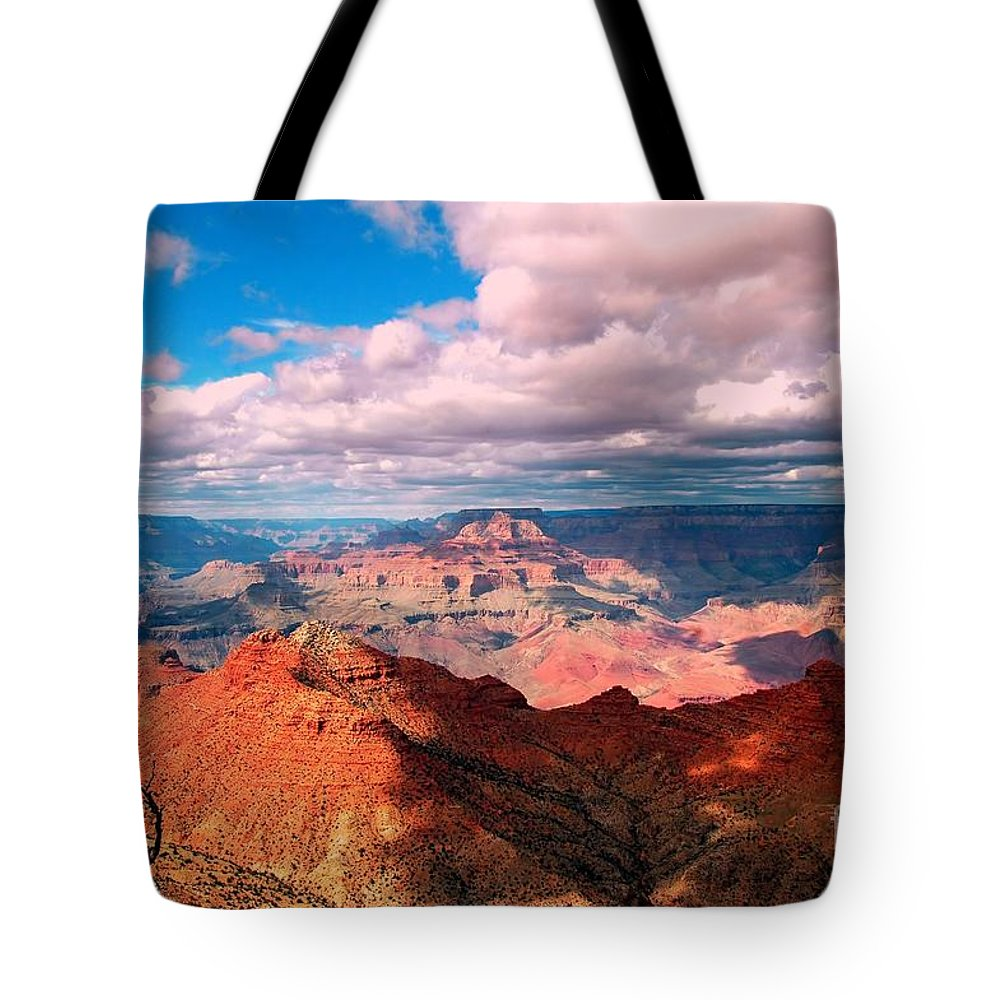 #grandcanyon #nationa L#park #landscape #arizona #travel.tourist.attraction Tote Bag featuring the photograph Awesome View by Kathleen Struckle