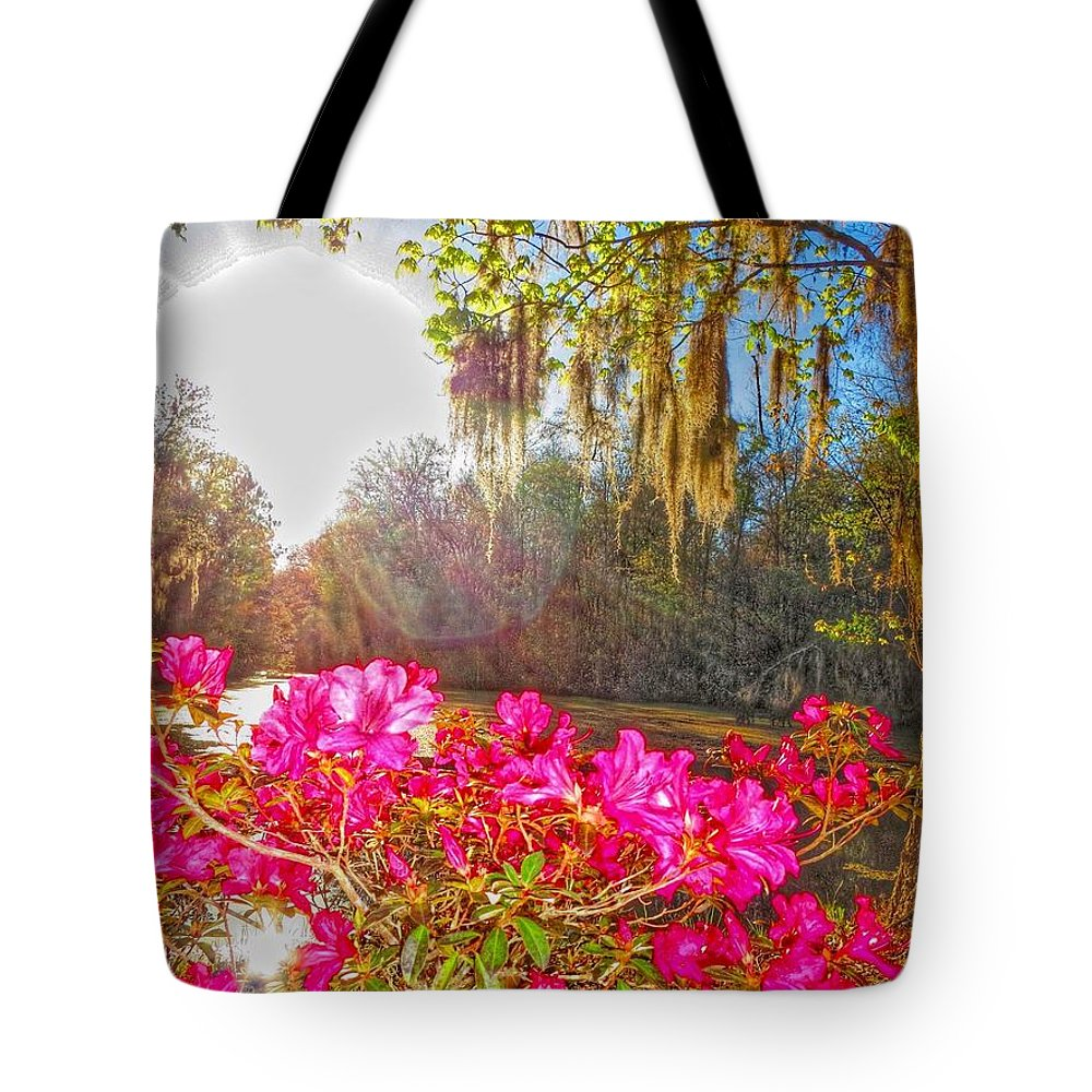 The Azaleas Were In Bloom Tote Bag featuring the photograph Azalea Glory by John Stokes