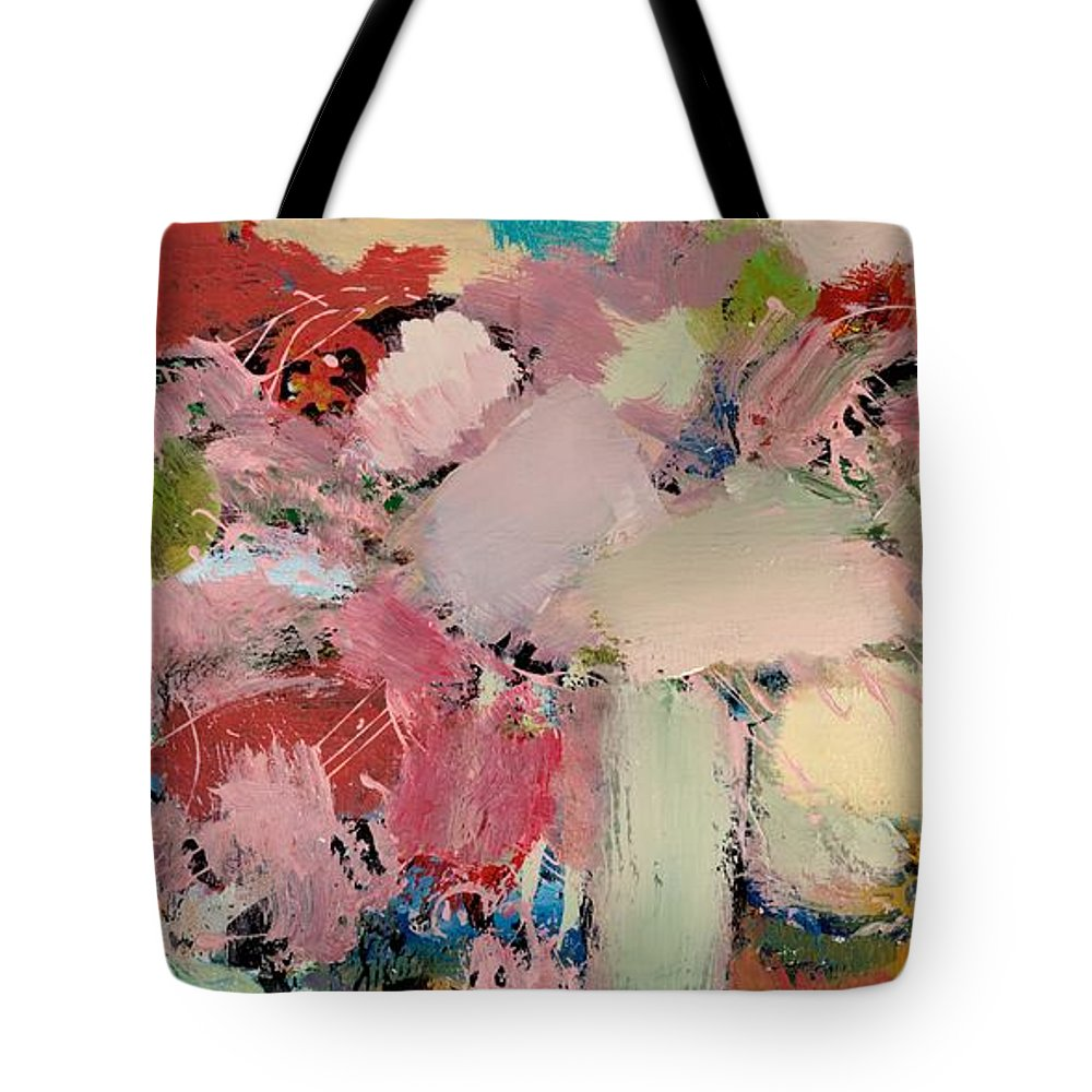 Landscape Tote Bag featuring the painting Azaleas by Allan P Friedlander