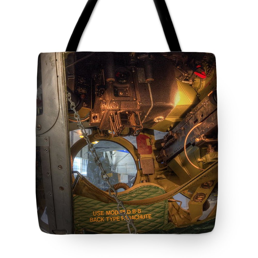 Boeing Tote Bag featuring the photograph B-17 Ball Turret by David Dufresne