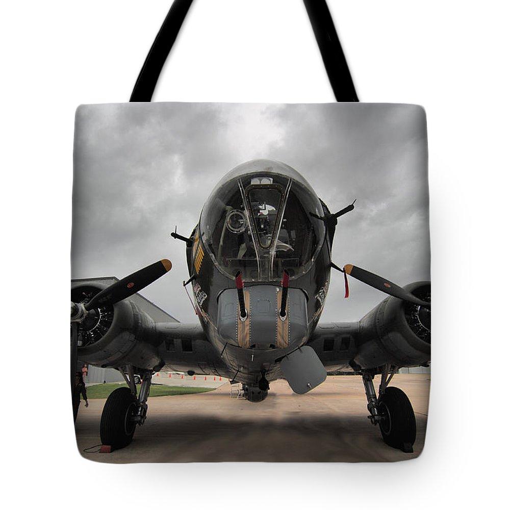 B-17 Tote Bag featuring the digital art B-17 Dreams by Linda Unger