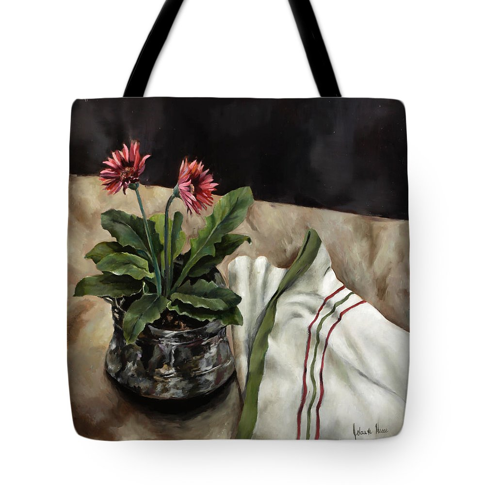 Daisies Tote Bag featuring the painting Baberton Daisies by Jolante Hesse