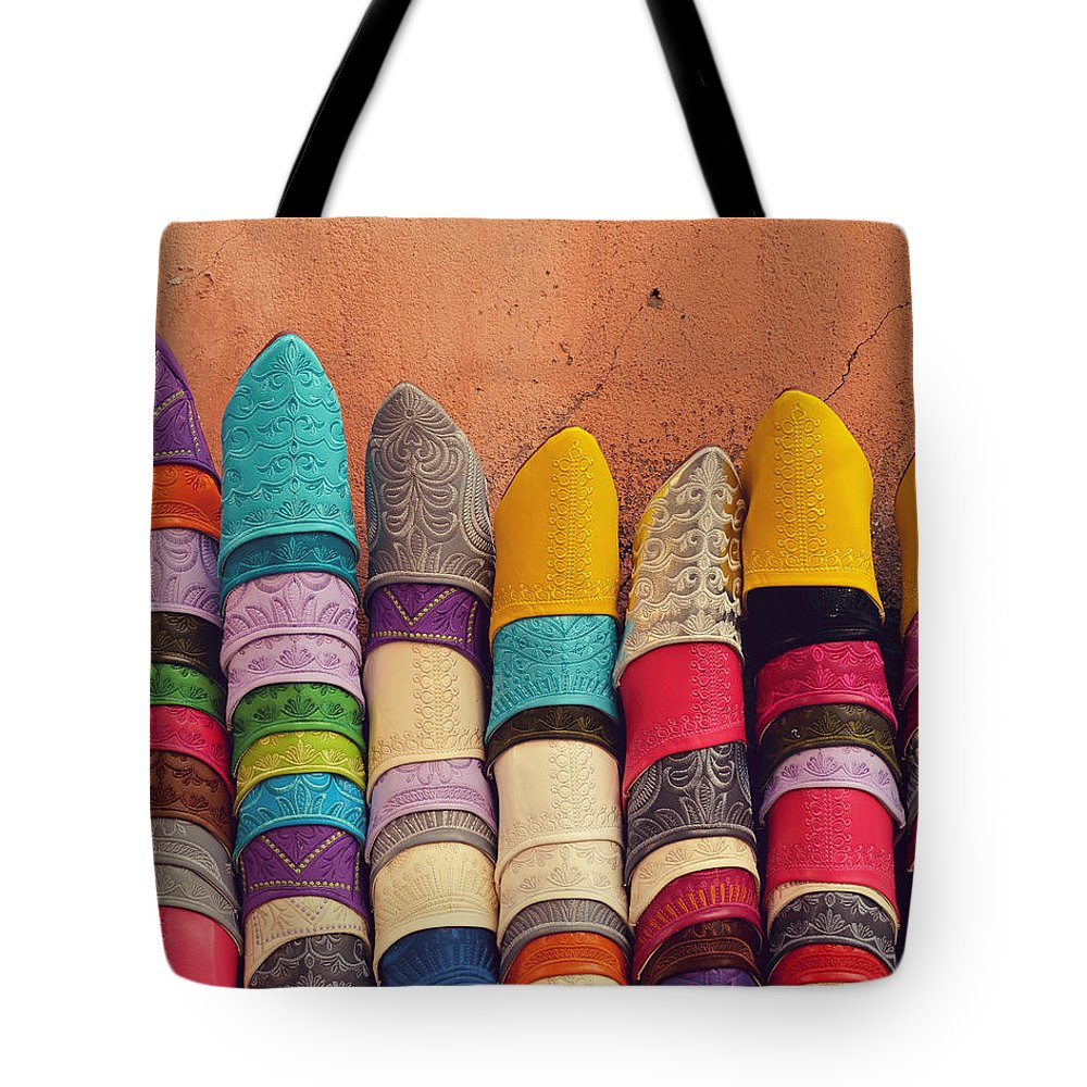 Travel Tote Bag featuring the photograph Babouches by Studio Yuki