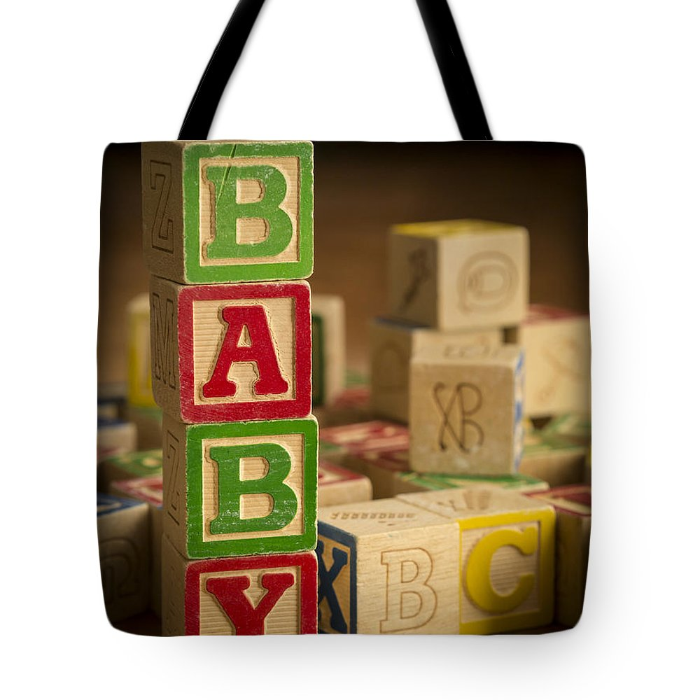 Blocks Tote Bag featuring the photograph Baby Blocks by Edward Fielding