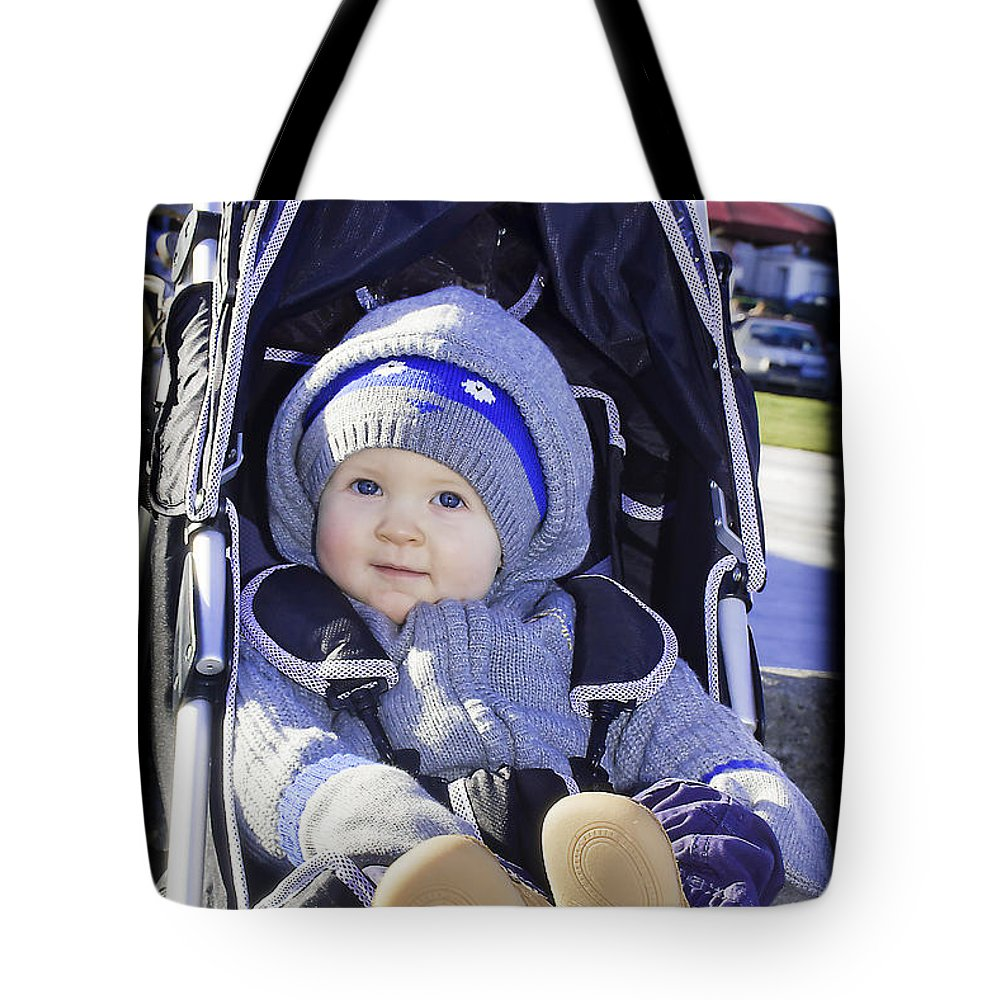 Baby Tote Bag featuring the photograph Baby Blue by Alex Art and Photo
