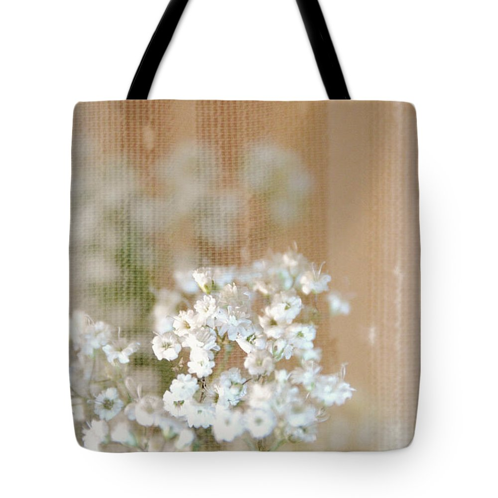 Baby Breath-special Day Tote Bag featuring the photograph Baby Breath- Special Day by Darla Wood