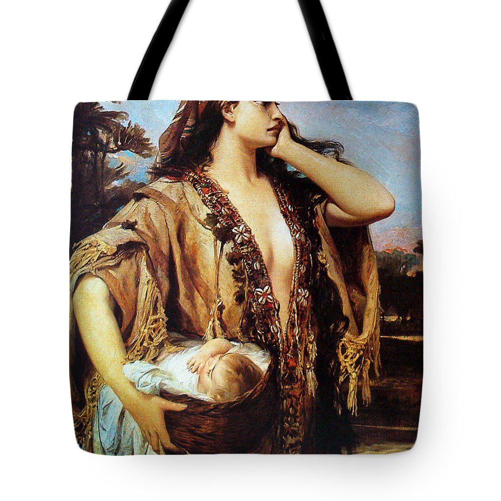 Pedro Americo Tote Bag featuring the digital art Baby Moses And Jacabed by Pedro Americo