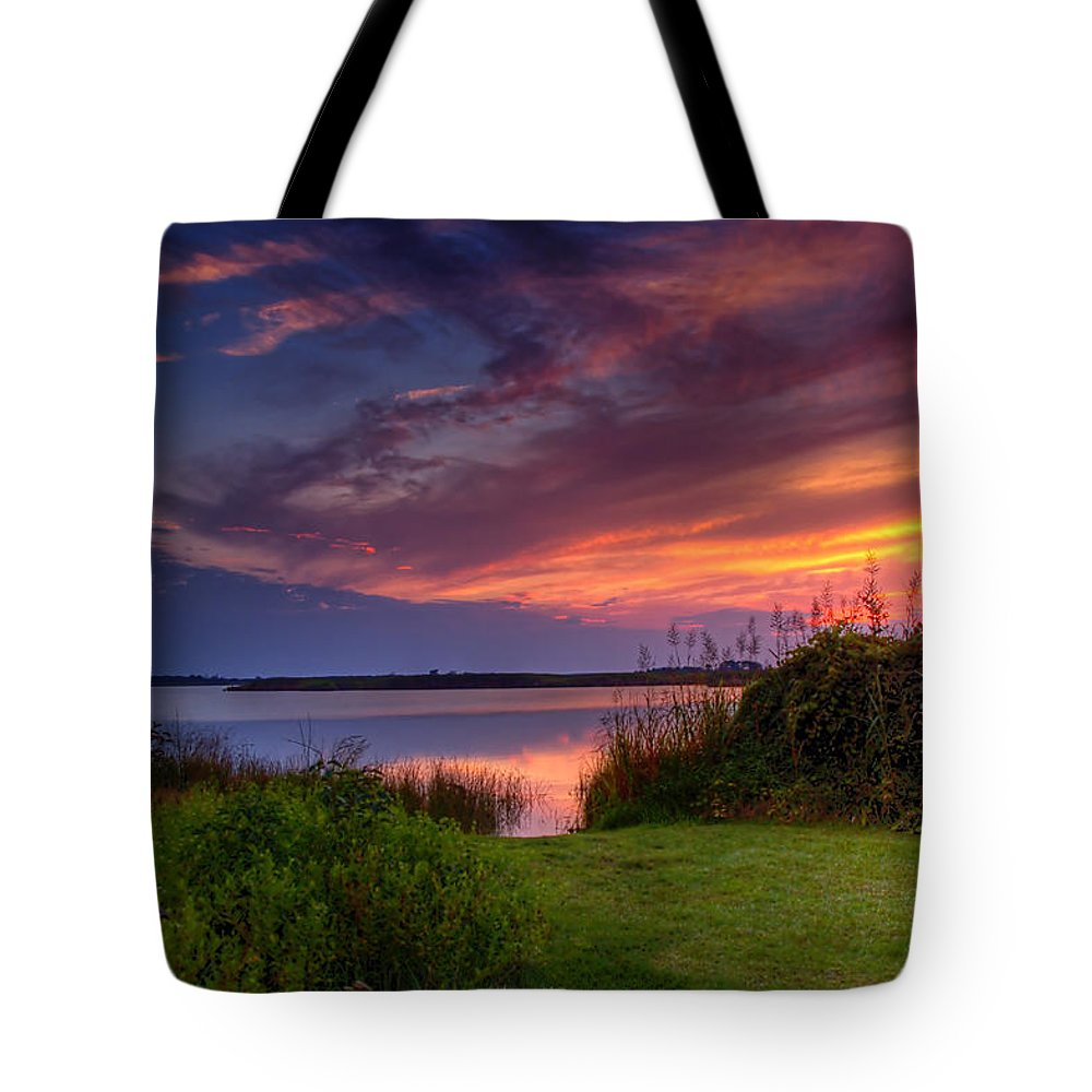 Abstract Tote Bag featuring the photograph Back Bay Dusk by Pete Federico