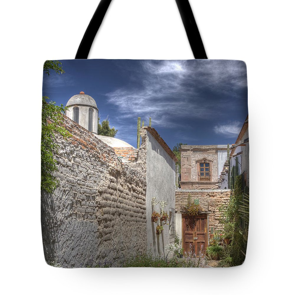 Mexico Tote Bag featuring the photograph Back Door by Lindley Johnson