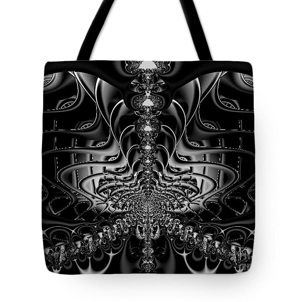 Tote Bag featuring the digital art Back In Black by Dana Haynes