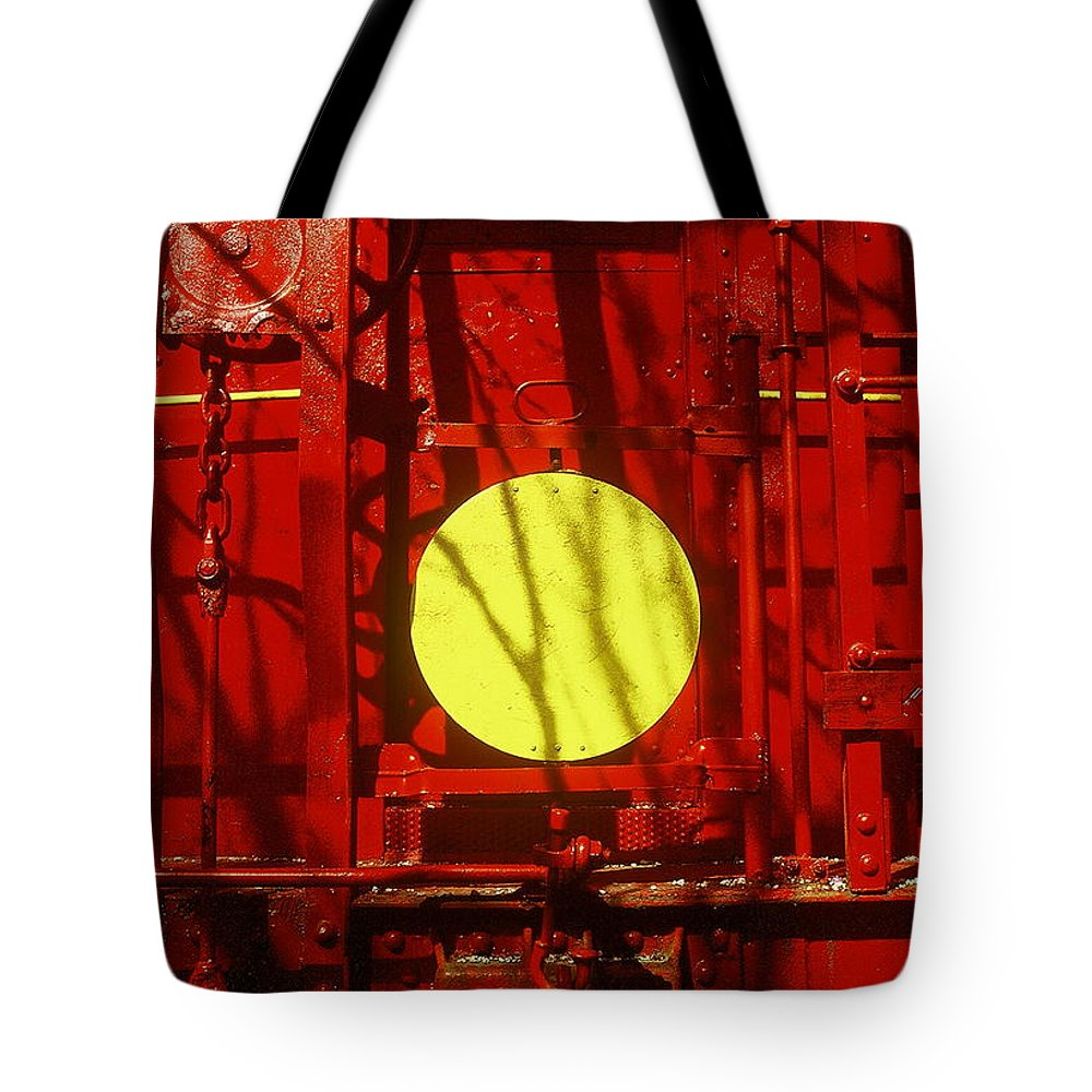 Fine Art Tote Bag featuring the photograph Back Of Caboose by Rodney Lee Williams