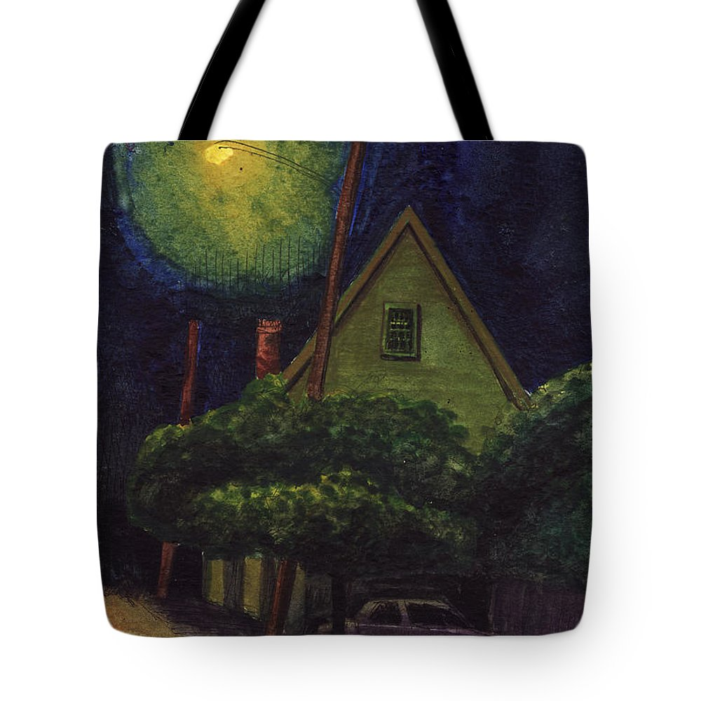 Nocturne Tote Bag featuring the painting Back Street by Arthur Barnes