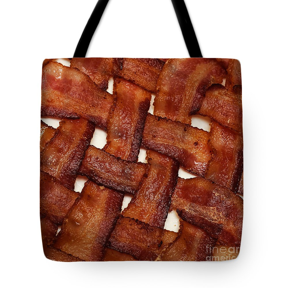 Andee Design Tote Bag featuring the photograph Bacon Weave Square by Andee Design