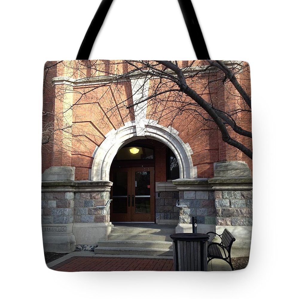 Red Brick Tote Bag featuring the photograph Bacteriology by Joseph Yarbrough