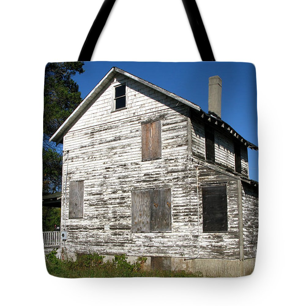 House Tote Bag featuring the photograph Bad Real Estate by Olivier Le Queinec