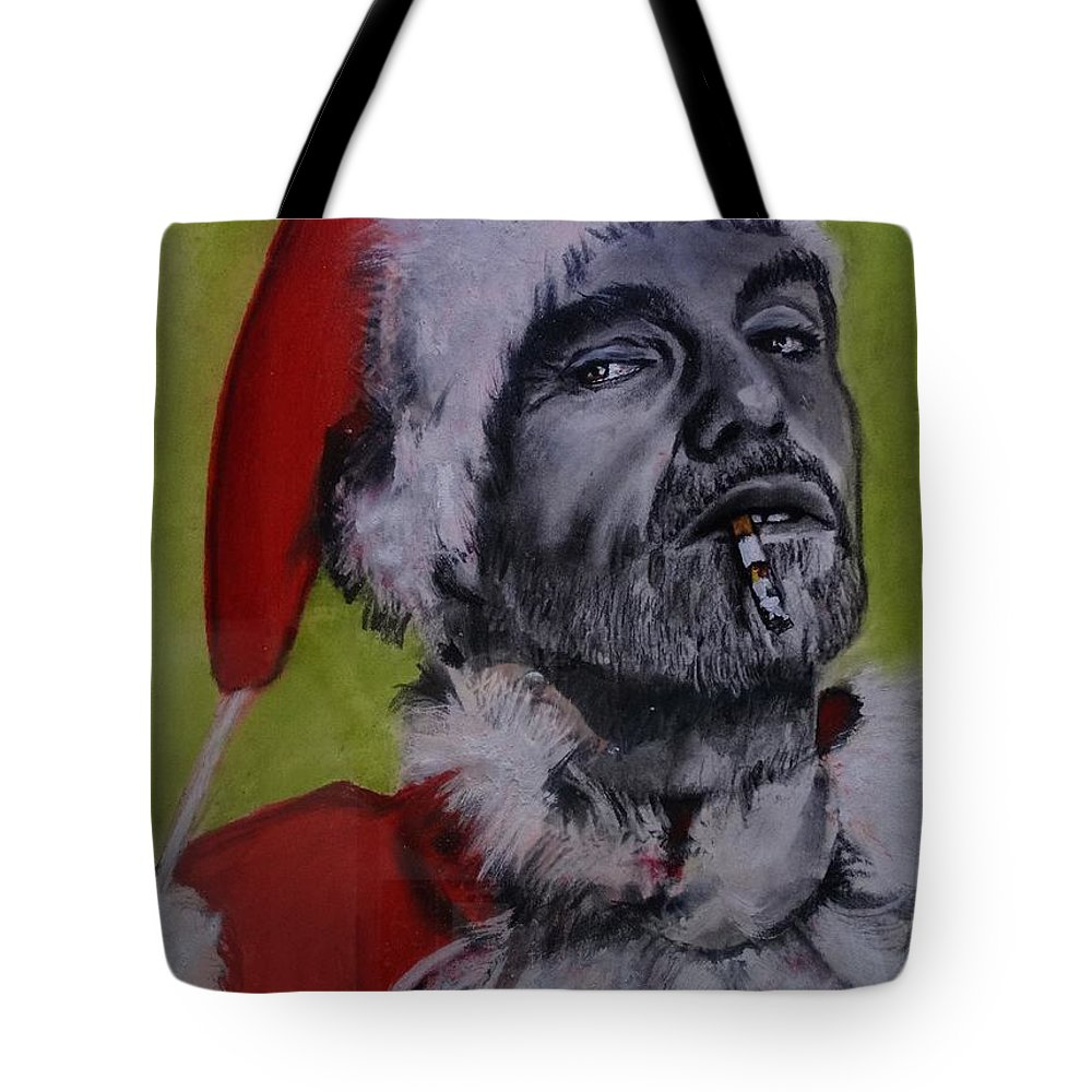Billy Bob Thornton - Bad Santa Tote Bag featuring the painting Bad Santa by Eric Dee