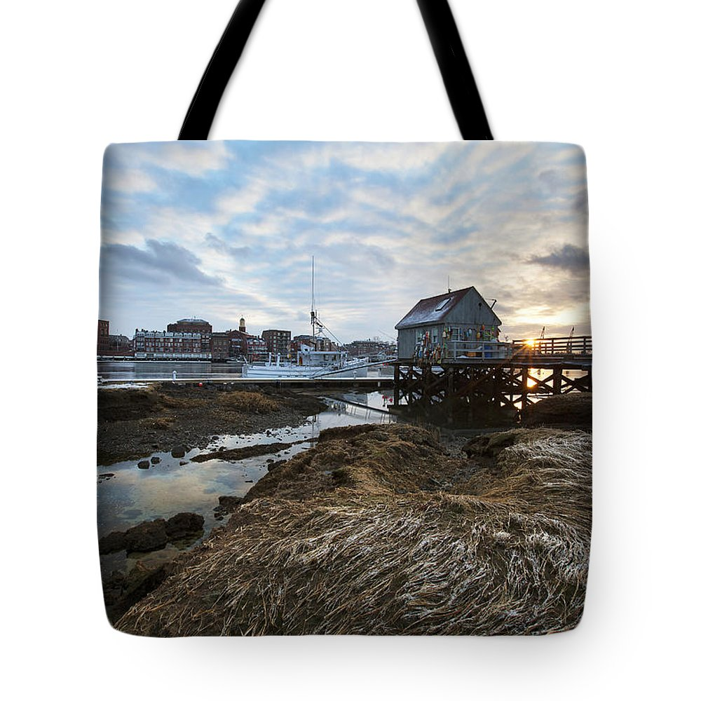 Badgers Island Tote Bag featuring the photograph Badgers Island by Eric Gendron