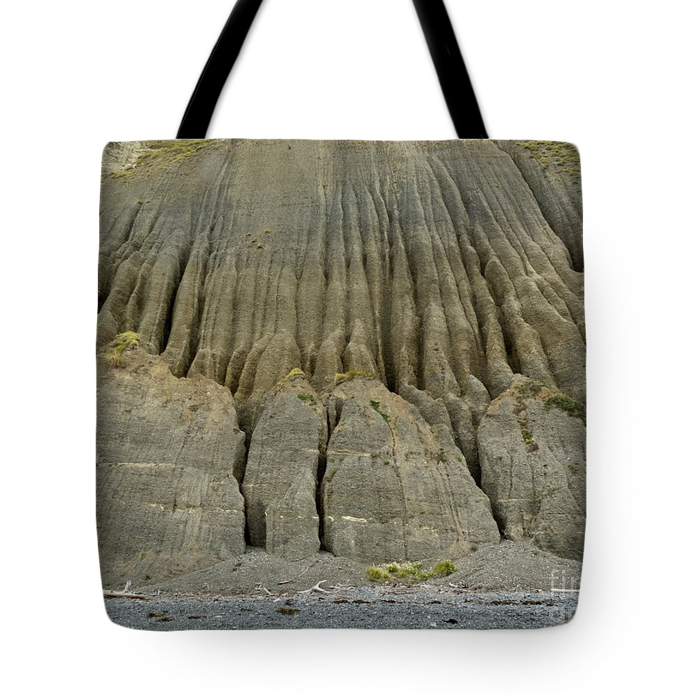 Background Tote Bag featuring the photograph Badland Erosion Of Soft Conglomerate Sediment by Stephan Pietzko