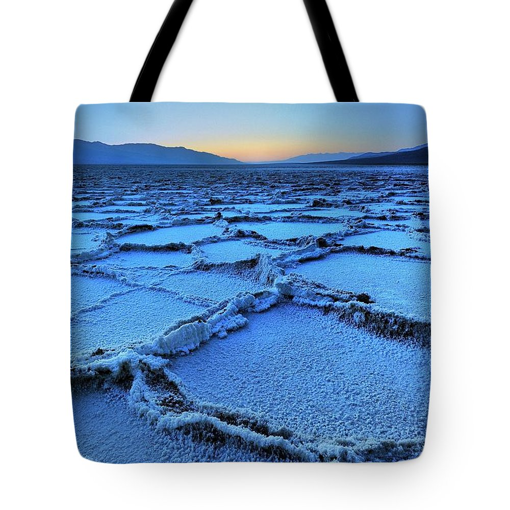 Tranquility Tote Bag featuring the photograph Badwater Dusk, Death Valley, California by Joao Figueiredo