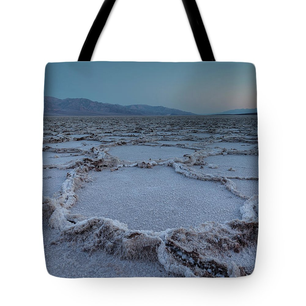 Tranquility Tote Bag featuring the photograph Badwater Salt Flats by Henryk Welle