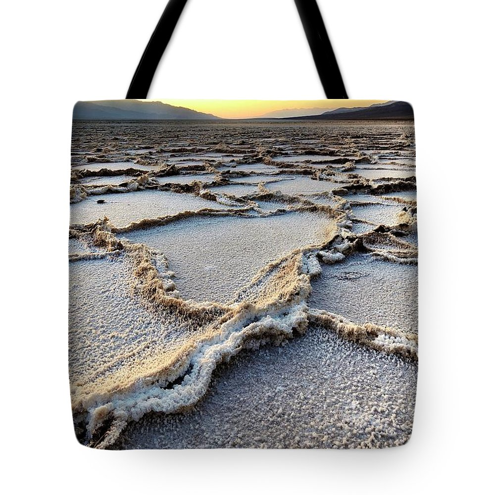Tranquility Tote Bag featuring the photograph Badwater Sunset - Death Valley by Joao Figueiredo
