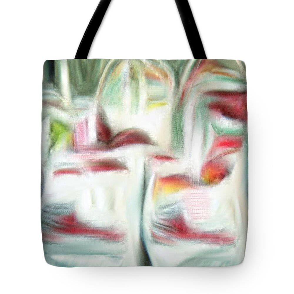 Apples Tote Bag featuring the digital art Bags Of Apples by Bob Pardue