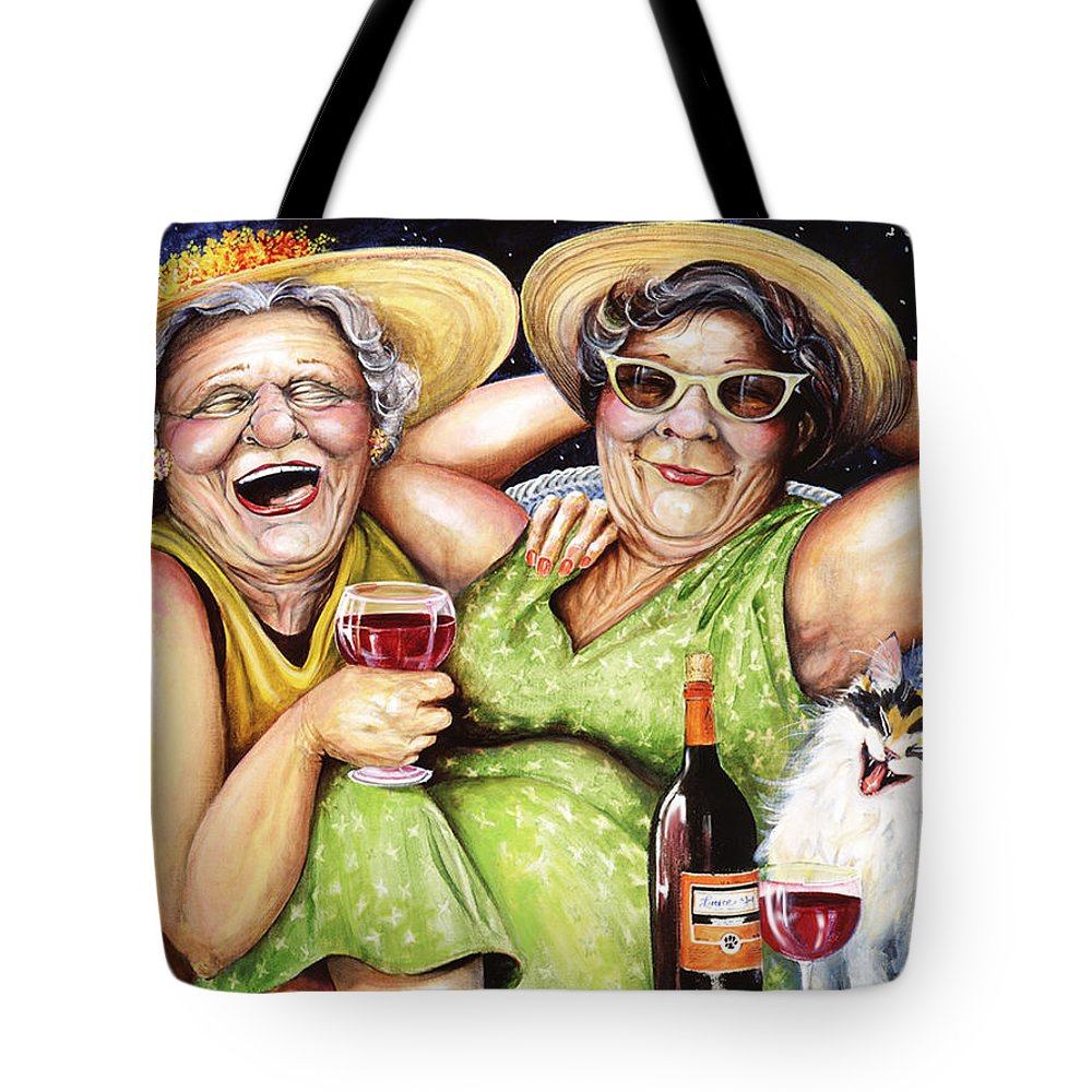 Whimsical Tote Bag featuring the painting Bahama Mamas by Shelly Wilkerson