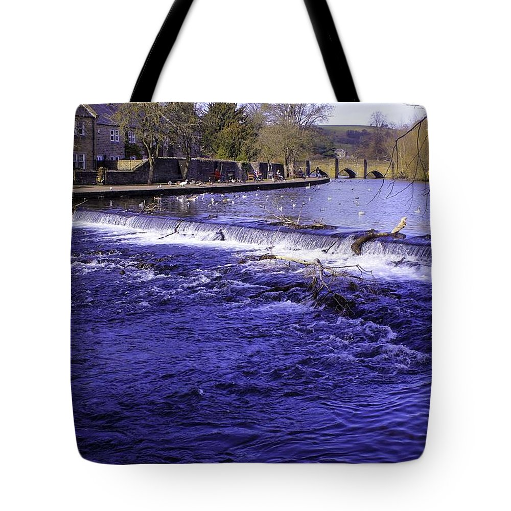 Bakewell Tote Bag featuring the photograph Bakewell Weir by Fred West