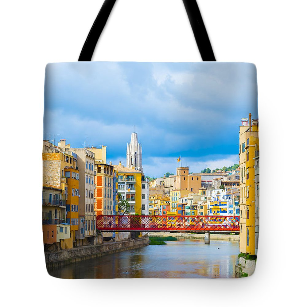 Spanish City Tote Bag featuring the photograph Balamory Spain by Mair Hunt