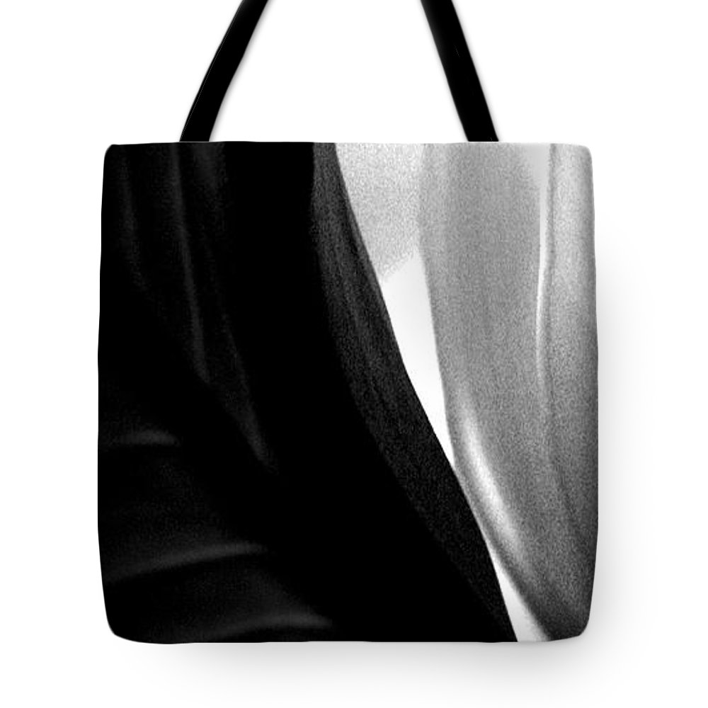 black And White Prints Tote Bag featuring the photograph Balance by Amanda Barcon