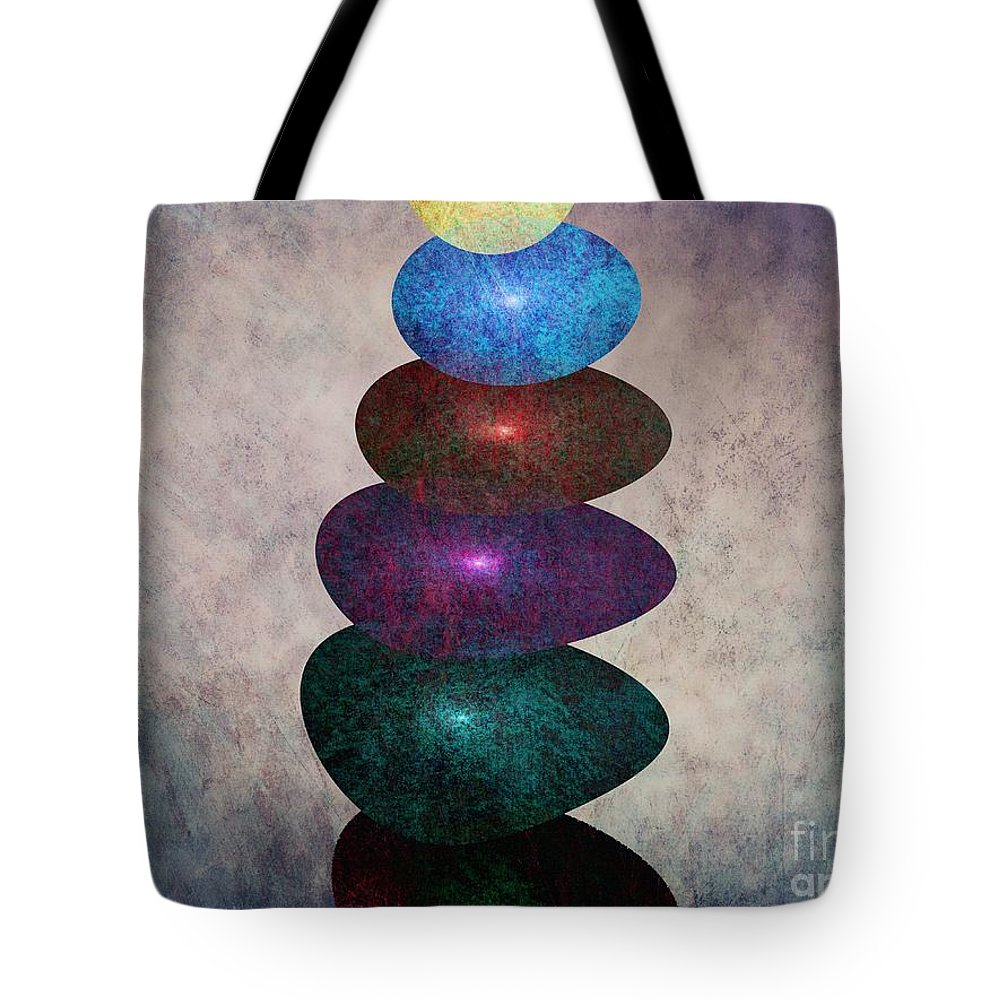 Abstract Tote Bag featuring the digital art Balance by Klara Acel