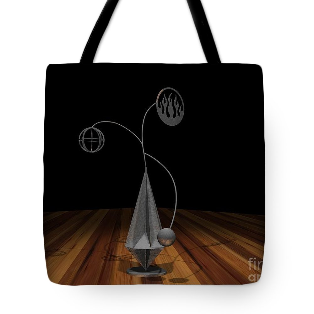 Concept Tote Bag featuring the photograph Balancing Flame V2 by Peter Piatt