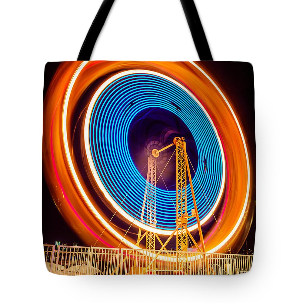 Spinning Wheel Tote Bags