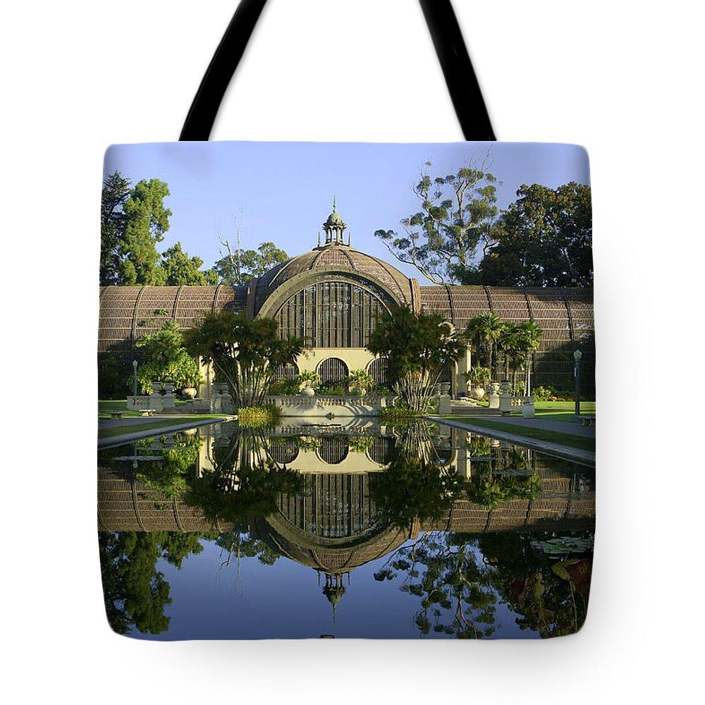 Morning Tote Bag featuring the photograph Balboa Park Botanical Building - San Diego California by Ram Vasudev