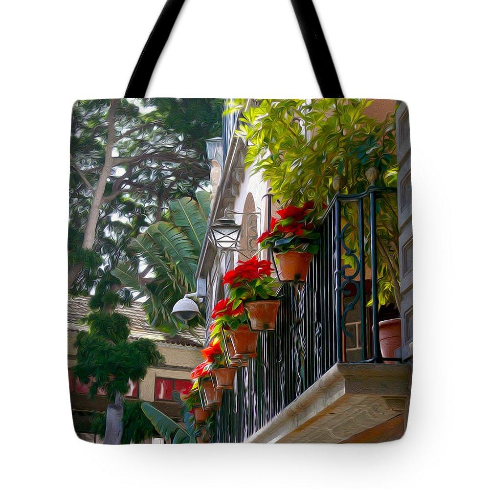 Las Palmas De Gran Canaria Tote Bag featuring the photograph Balcony by Tracy Winter