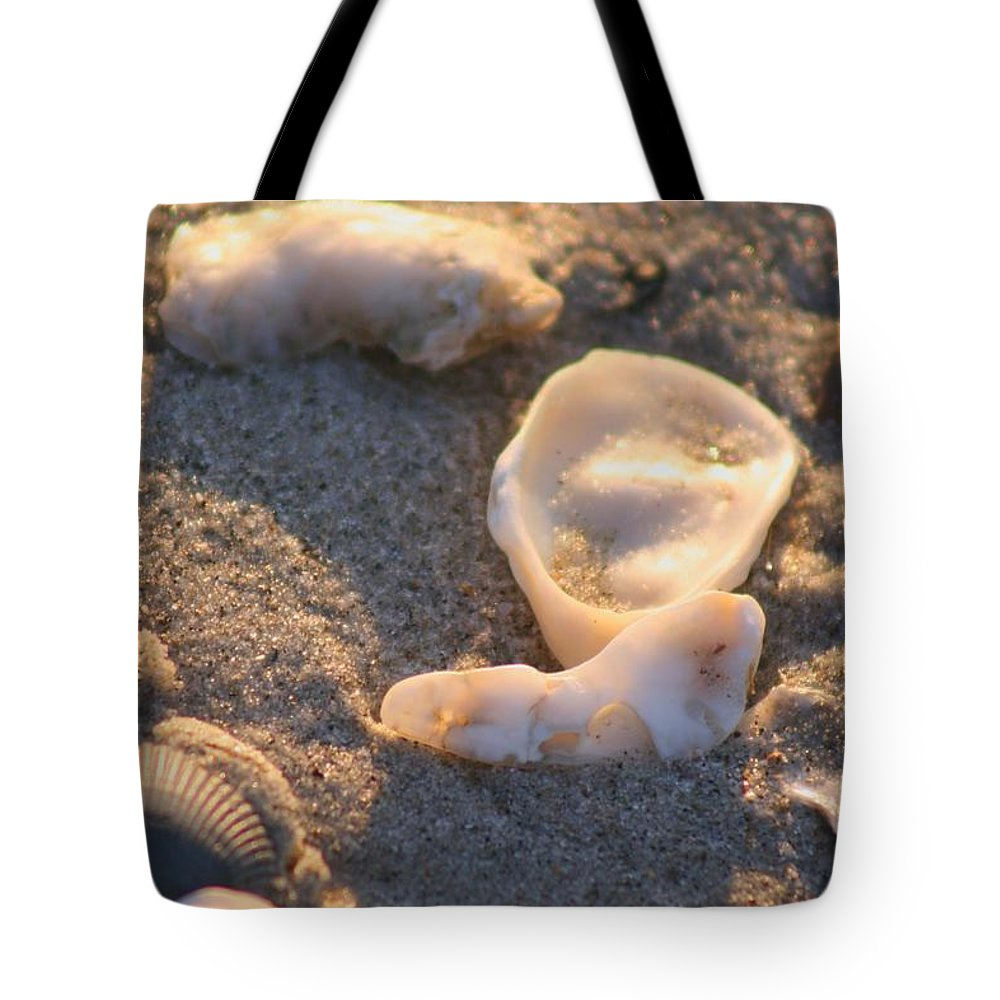 Shells Tote Bag featuring the photograph Bald Head Island Shells by Nadine Rippelmeyer