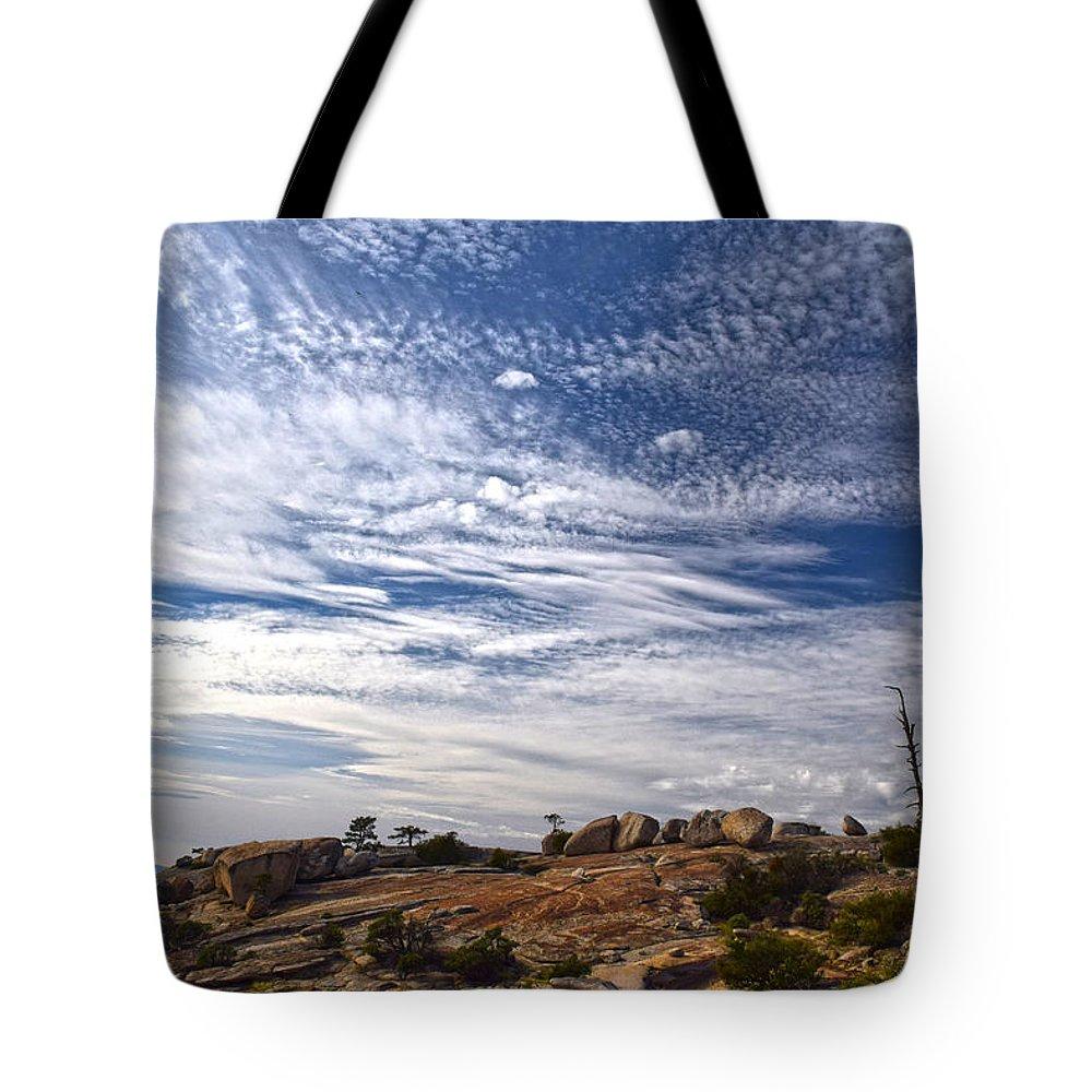 Bald Rock Dome Tote Bag featuring the photograph Bald Rock Glacial Erratics by Frank Wilson