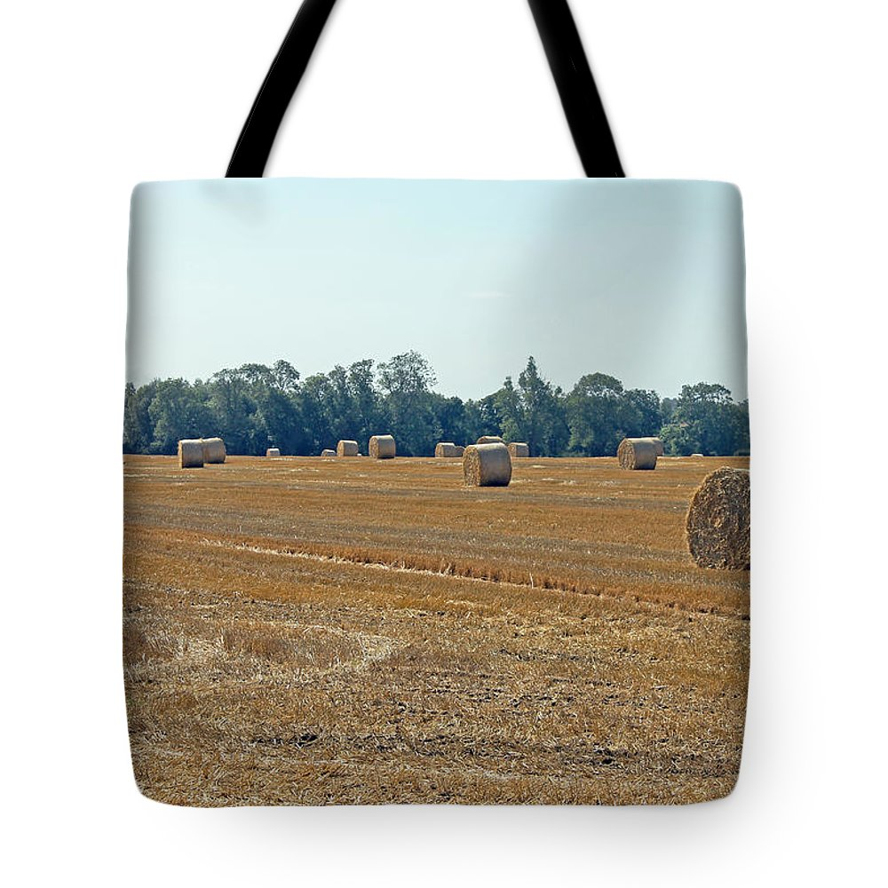 Hay Bales Tote Bag featuring the photograph Bales Of Hay by Tony Murtagh