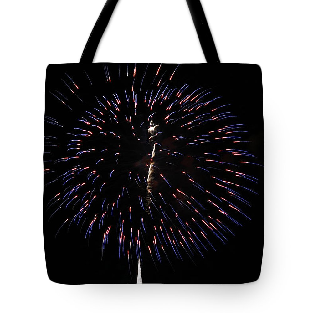 Abstract Tote Bag featuring the photograph Ball Of Fire by Jack R Perry