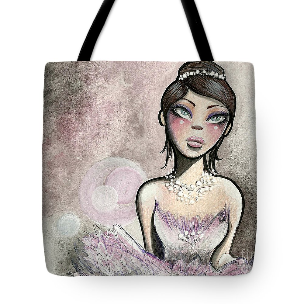 Ballerina Tote Bag featuring the drawing Ballerina Dreams by Margie Forestier