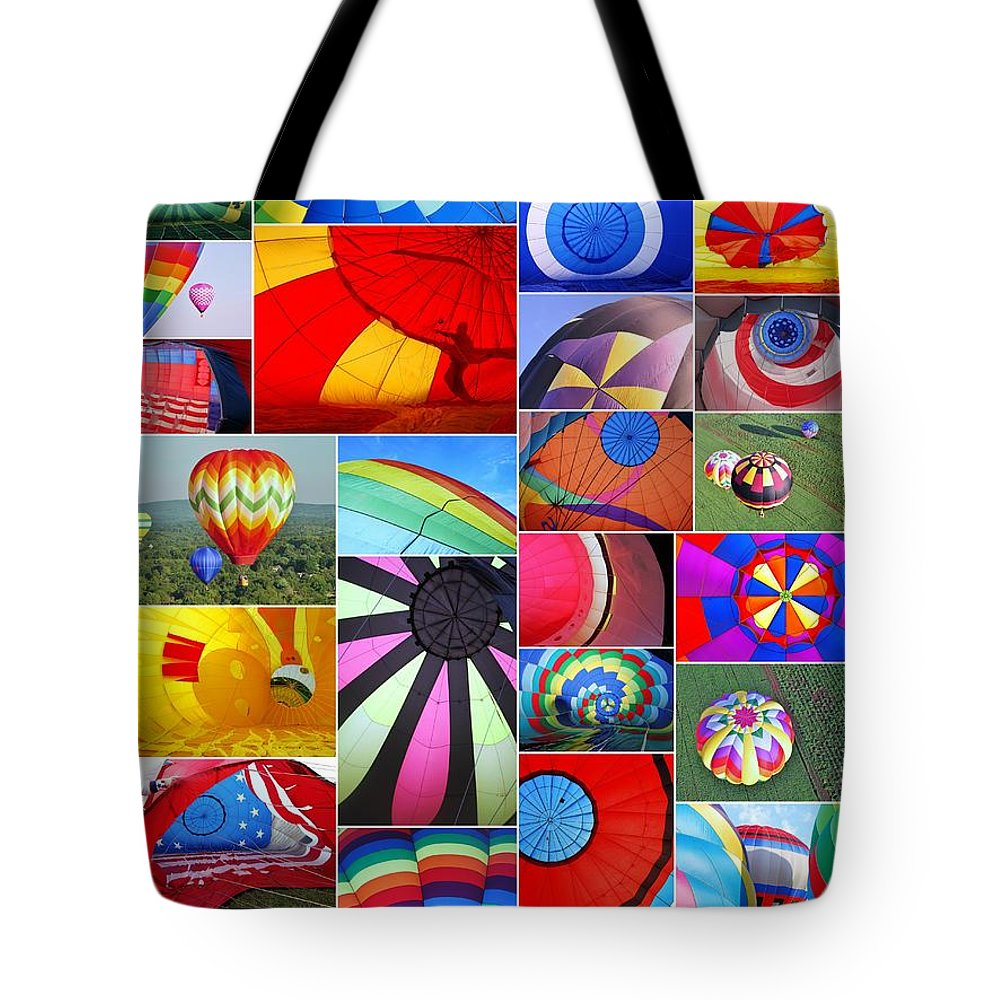 Colors Tote Bag featuring the photograph Balloon Fantasy Collage by Allen Beatty