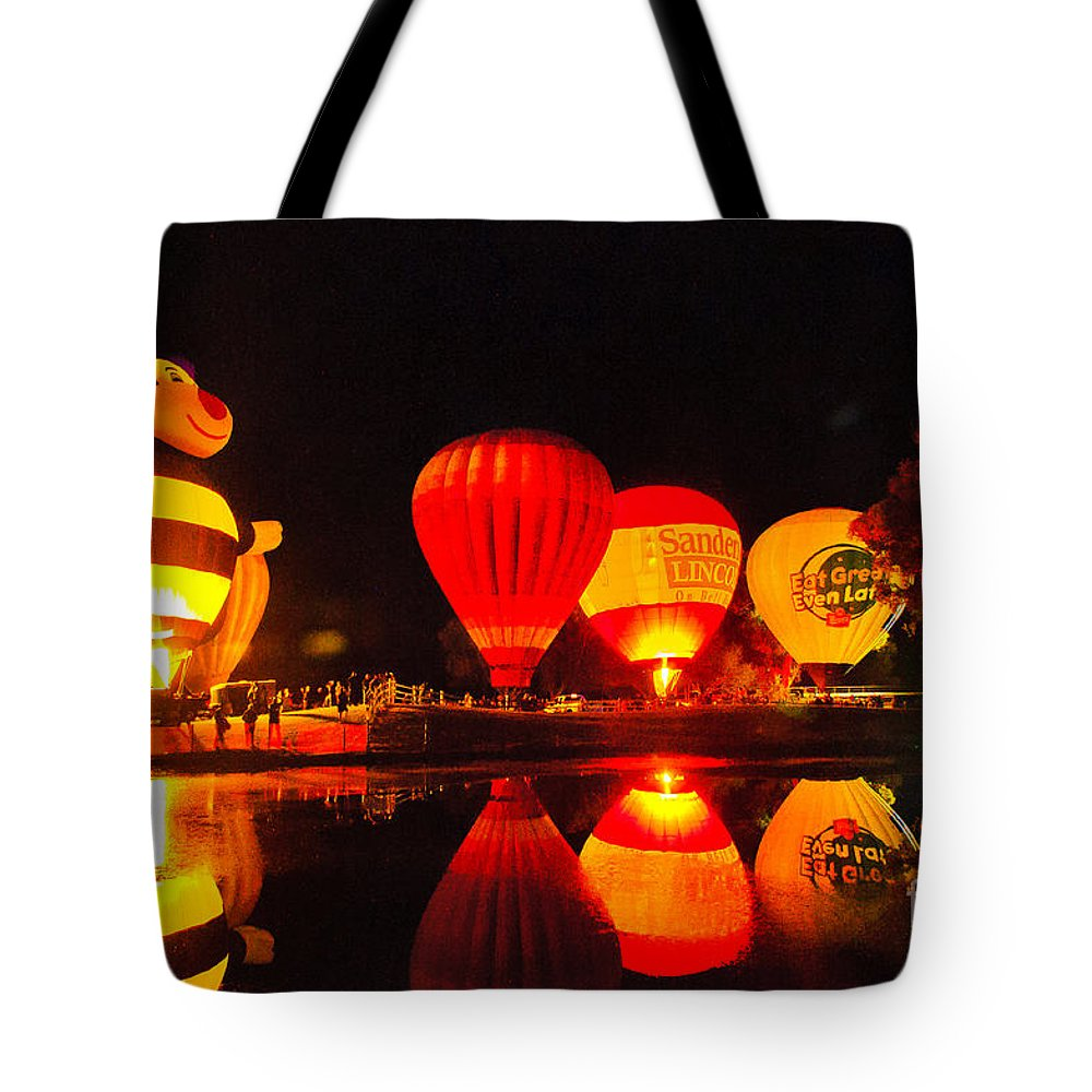 Balloon Fest Tote Bag featuring the photograph Balloon Fest 2 by Larry White