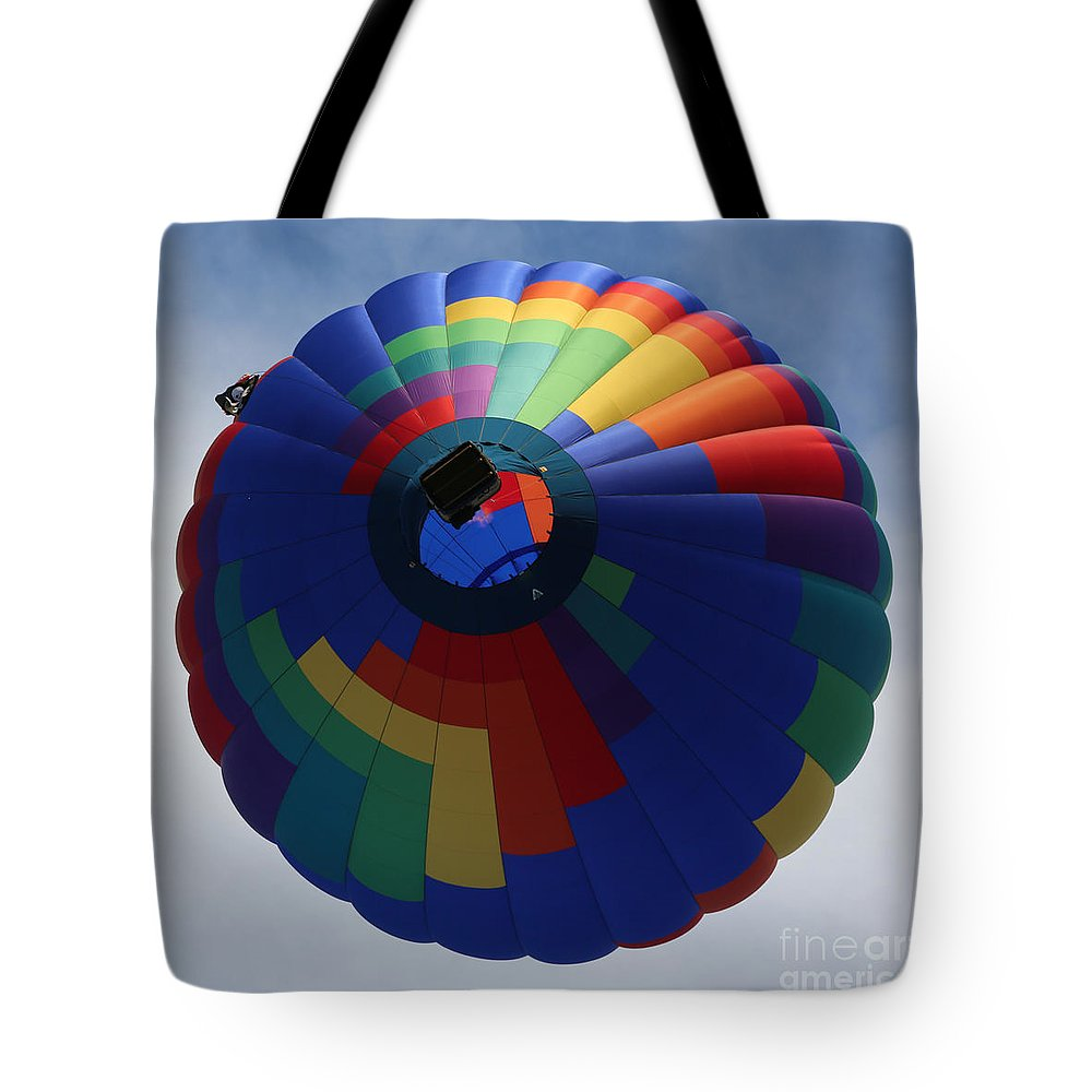 Balloon Tote Bag featuring the photograph Balloon Square 5 by Carol Groenen