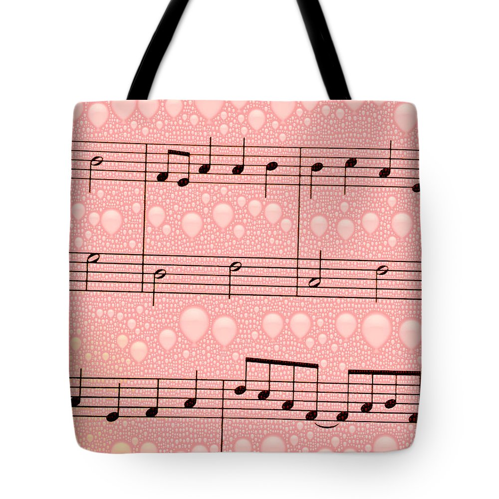 pink Balloons Balloons music Art Abstract abstract Design girl's Fashion women's Fashion Fashion fashion Design Balloons sheet Music digital Art Music Tote Bag featuring the photograph Balloons And Music by Bill Owen