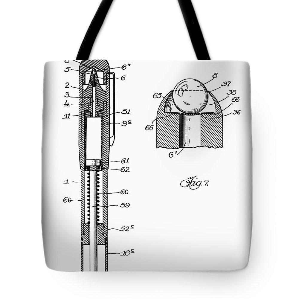 Ballpoint Pen Drawing Tote Bags Fine Art America Diagram