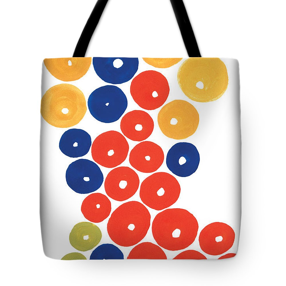Contemporary Tote Bag featuring the painting Balls by Bjorn Sjogren
